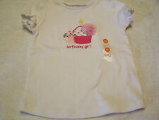 NWT GYMBOREE BIRTHDAY GIRL CUPCAKE CANDLE PUFF WHITE SHIRT 2T  Free US Shipping
