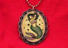 MERMAID PIN UP GIRL TATTOO FISH OLD SCHOOL NECKLACE