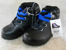 Toddler Cedric Boots/Shoes Sz 10M Black w/Laces & Side Zipper Wonderkid Casual