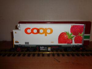 LGB  RhB COOP Kühlcontainerwagen (Erdbeere)  LGB Nr. 45893 OVP