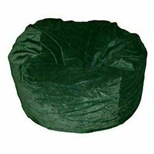 "1 PC Velvet (48""x48""x34"") Green Bean Bag Cover Without Beans Comfortable Awesome"