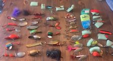 New listing huge Vintage To Current Fishing Lures plastic Metal Blue Fox Rooster Tail More