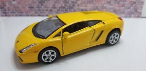 "Kinsmart 5"" Lamborghini Gallardo Diecast Model Toy Car 1:32 Yellow KT5098 Car"
