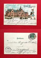 Litho AK LEIPZIG 1898 Buchhändlerhaus mit Typen  ( 57549