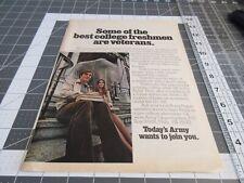 1973 U.S. Army Recruiting AD, Best College Freshmen are Veterans
