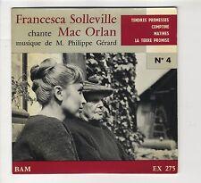 "EP 45 tours Francesca Solleville ""Tendres promesses"" Mac Orlan 1961 EXC"