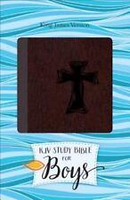 KJV Study Bible for Boys Autumn Bark, Cross Design Duravella (2016, Imitation...