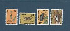 Congo république  faune insectes nuisibles 1991  num: 907/910  **
