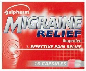 16 GALPHARM IBUPR0FEN 200MG CAPSULES - PAIN RELIEF - MIGRAINE - FAST DISPATCH