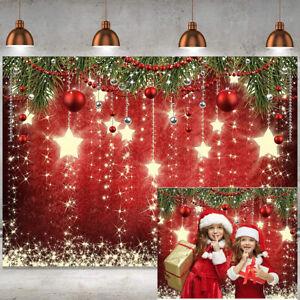 Christmas Sparkling Stars Photography Backdrop Photo Background Studio Prop