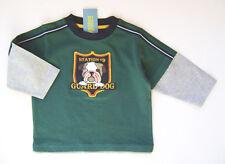 GYMBOREE Firehouse Hounds Green Guard Dog Cotton Tee Shirt Boys 3 3T NEW