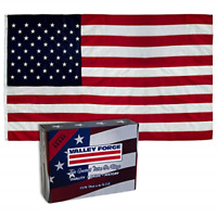 Valley Forge, American Flag, Nylon PERMA-NYL, 4' x 6', 100% Made in USA, Sewn
