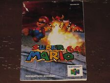 NINTENDO / N64 SUPER MARIO 64 (COLOR) MANUAL / INSTRUCTION BOOKLET ONLY