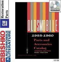 1955 1956 1957 1958 1959 1960 Oldsmobile Parts Book List CD Interchange