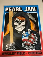 Pearl Jam Chicago Cubs Wrigley Field 2016 Concert Poster by Sean Cliver *MINT)