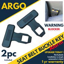 2 X Siège Boucle de Ceinture Alarme de voiture Eliminator Clip/Avertissement Lumière bouchon de sécurité Plug