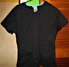 SB Scrubs Black/ Turquoise Trim Uniform Top Small *REDUCED*