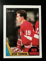 1987-88 OPC Steve Yzerman #56 Red Wings O-Pee-Chee