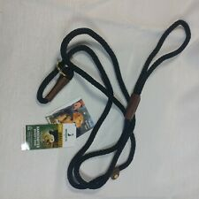 "Dog Slip Lead, 3/8"" x 6', Black (02603) rope leash"