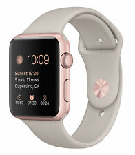 Apple Watch Sport 42mm Rose Gold Case Black Sports Band - (MLC62LL/A)
