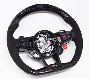 Audi TT TTRS 8S MK3 LED Carbon Fibre Steering Wheel - Customisable Options 2014+