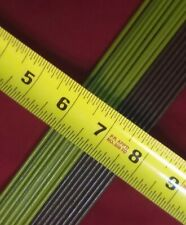 """(6) heavy duty 15"""" inch steel orchid stakes vinyl coated 12 gauge wire plant"""