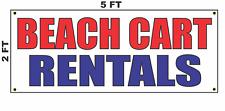 Beach Cart Rentals Banner Sign 2x5 for Golf Car