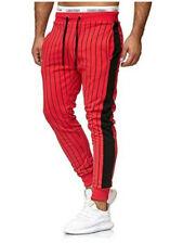 Men's Casual Slim Stripe Long Pant Jogger Sweatpants Fitness Sport Trousers