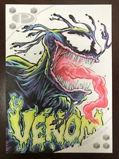 2017 Upper Deck Marvel Premier Jason Crosby Venom 5x7 Full Color Sketch 1/1