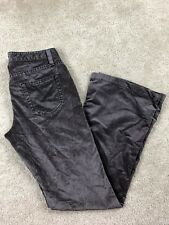 Theory Size 2 Velvet Velour Metallic Pants Flare Brown Pants