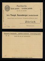 SUISSE / SWITZERLAND / SCHWEIZ - POSTKARTE 5c Black - Mi.P26 (dat. V 97)