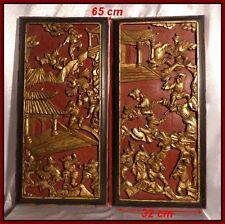 """""""Combat de Guerriers Mongoles avec Des Monstres"""" Chine XIXe Sculptures Chinoises"""