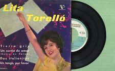 LITA TORELLO / Tierra Gris / VERGARA 35.0.013-C Pressing Spain 1962 EP 45 rpm EX