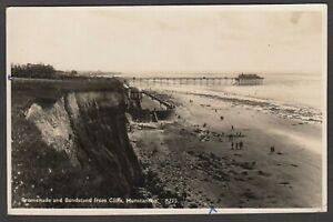 Postcard Hunstanton nr Heacham Norfolk the Promenade bandstand Pier sent 1945 RP