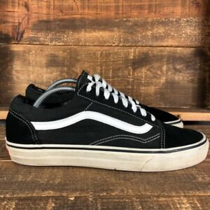 Vans Mens Old Skool Classic Black White 721278 Low Canvas Skate Shoes Size US 10