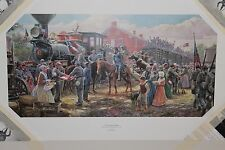 Mort Kunstler - Victory Road the Rails- Collectible Civil War Print
