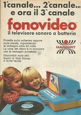 X9760 Fonovideo il Tv sonoro a batterie - HARBERT - Pubblicità 1975 - Advertis.