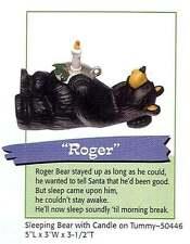 Retired Big Sky Carvers Bearfoots Bears Christmas Sleeping Roger Candle