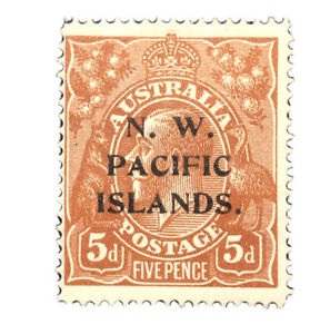 "NEW GUINEA 1915  Provisional ""NW PACIFIC ISLANDS""  #17 MH Stamp"
