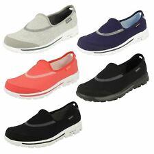 Skechers 13510 GO Walk Ladies Navy or Hot Pink Shoes (GO)