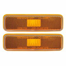 NEW 71-83 DODGE CHARGER FRONT SIDE MARKER LIGHT LAMP SET OF 2 CH2550101