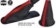 BLACK RED STRIPE TOP GRAIN LEATHER BOOT SET  FOR BMW MINI COOPER R55 R56 R57