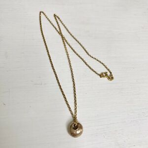 9ct Rose Gold Solid Nugget Necklace