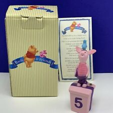 Piglet figurine Walt Disney Winnie Pooh friends birthday 5 years old box coa vtg
