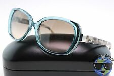 Coach Sunglasses HC 8172 5370D0 (L153) Crystal Teal/Snow Tortoise w/Gradient