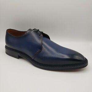 Bally SKAMBERG Men Shaded Blue Smooth Leather Oxford Dress Shoe US 9.5EEE/8.5 EU