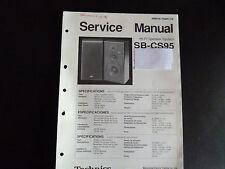 Original Service Manual Technics HiFi speaker sistema sb-cs95