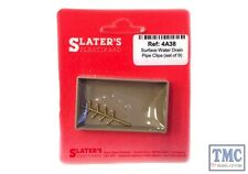4A38 Slaters OO/HO Gauge Surface Water Drain Pipe Clips, set of 9 (cast brass)