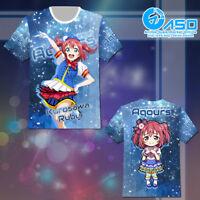 Anime T shirt Love Live Sunshine Kurosawa Ruby Unisex Short Casual Tee Tops Gift