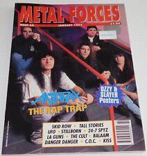 Metal Forces Magazine #68 Jan 1992 UK Anthrax Pete Way UFO Slayer Kiss Band